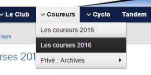 menu courses 2016