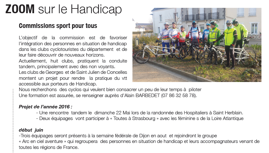 ACC Cyclisme Handicap